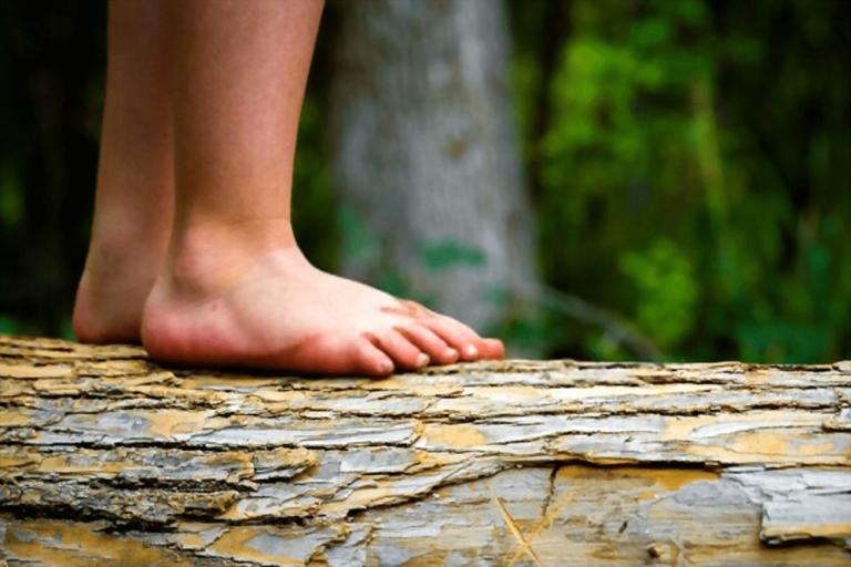 montaña y pies